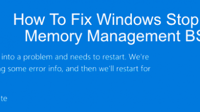 Photo of Step by Step Instructions to Repair Windows Stop Code Memory Management